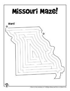 Missouri Printable Mazes of United States