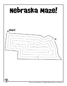 Nebraska Printable Maze of America