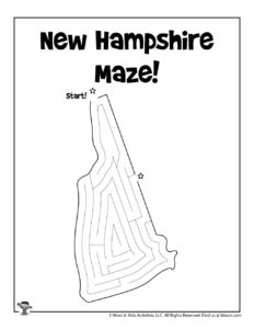 New Hampshire Maze Puzzles of 50 States