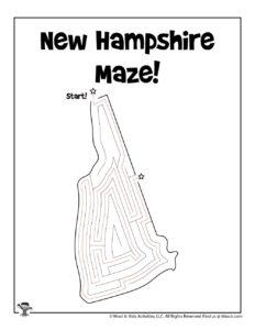 New Hampshire Maze Puzzles of 50 States - KEY