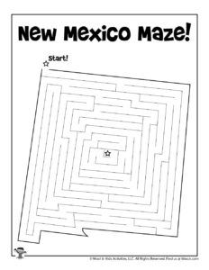 New Mexico Printable Mazes for Kids Free