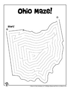 Ohio Learn the States Printable Kids Activity