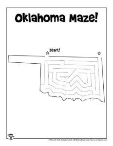 Oklahoma Printable Mazes of the US