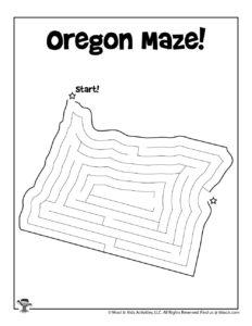 Oregon Easy Maze Activity Page