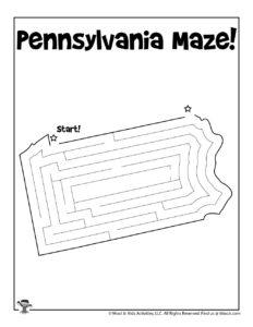 Pennsylvania Maze Activity Worksheet
