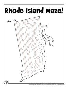 Rhode Island Fun Activity Worksheet - KEY