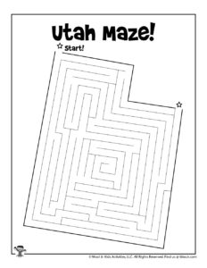 Free Printable Utah Maze
