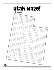 Free Printable Utah Maze - ANSWER KEY