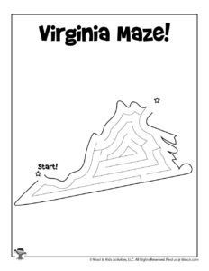 Virginia Easy Mazes of United States