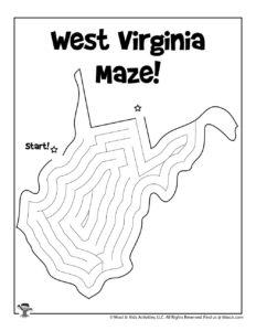 West Virginia Adventure Maze for Kids