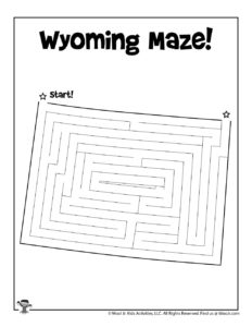 Wyoming Classroom Activity Page