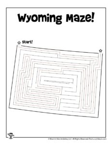 Wyoming Classroom Activity Page - KEY