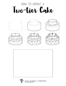 Birthday Cake Drawing for Kids Tutorial