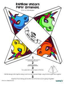 Free Printable Unicorn Craft for Kids