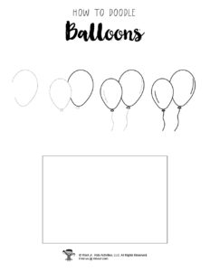 How to Draw Balloons Tutorial