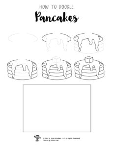 How to Draw Pancakes Breakfast