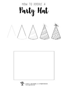Birthday Party Hat Step by Step Drawings