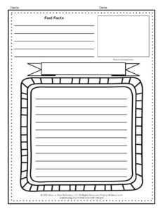 Poetry Printable Research Activity Pages