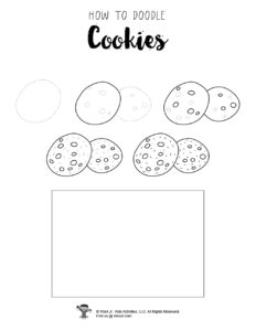 Cookie Drawing Step by Step Guide