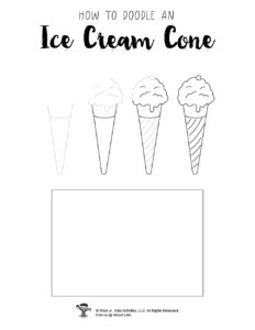 Printable Ice Cream Drawing Tutorial