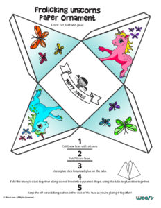 Printable Unicorn & Butterfly Project for Kids