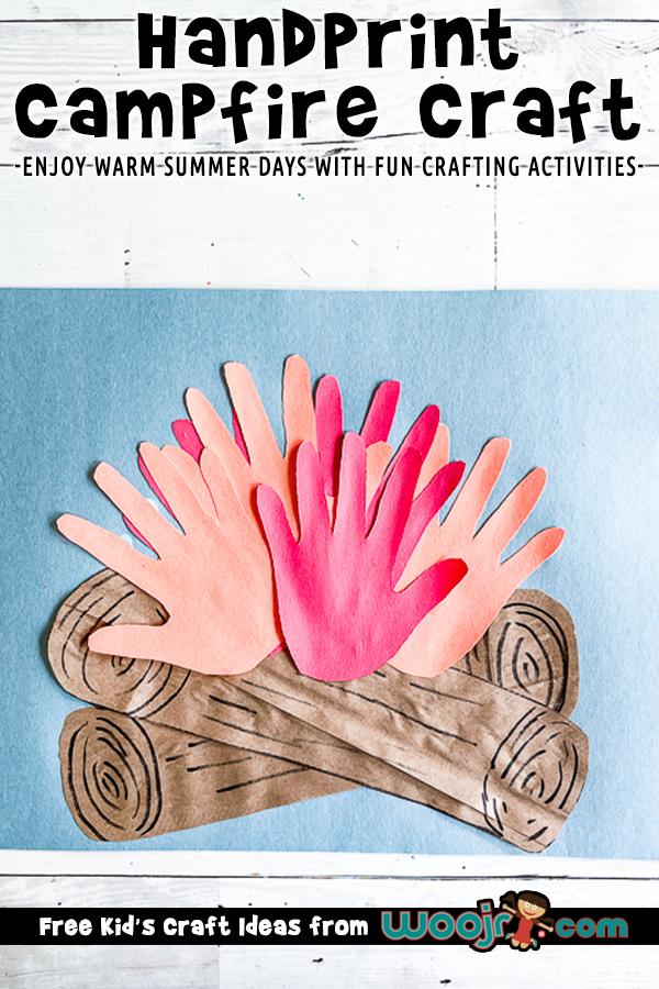 Handprint Campfire Craft