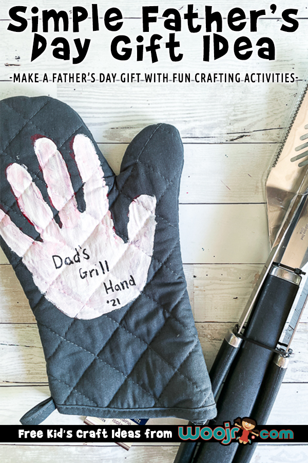 Easy Father's Day Gift - Handprint Grill Mitt