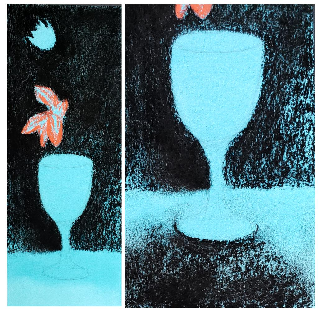 A Blue Vase art activity based on Picasso