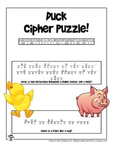 Animals Crack the Code Puzzle for Kids