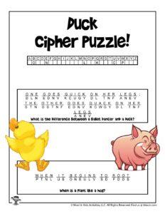 Animal Unlock the Code Puzzles - KEY
