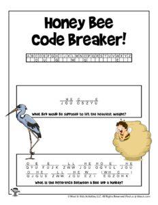 Animal Cryptogram Decoding Word Puzzle