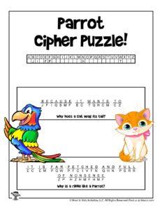 Animal Cryptogram Word Puzzles - KEY