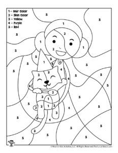 Happy Birthday Girl Kids Coloring Page