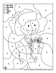 Printable Color by Number Birthday Girl