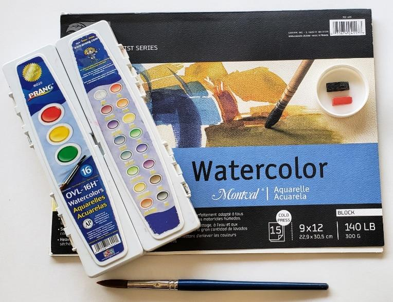 Watercolor and pastels craft for tweens