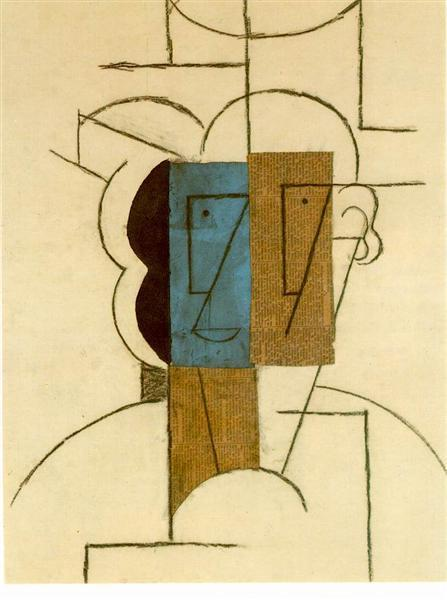 Picasso's Head of a Man with Hat, 1912