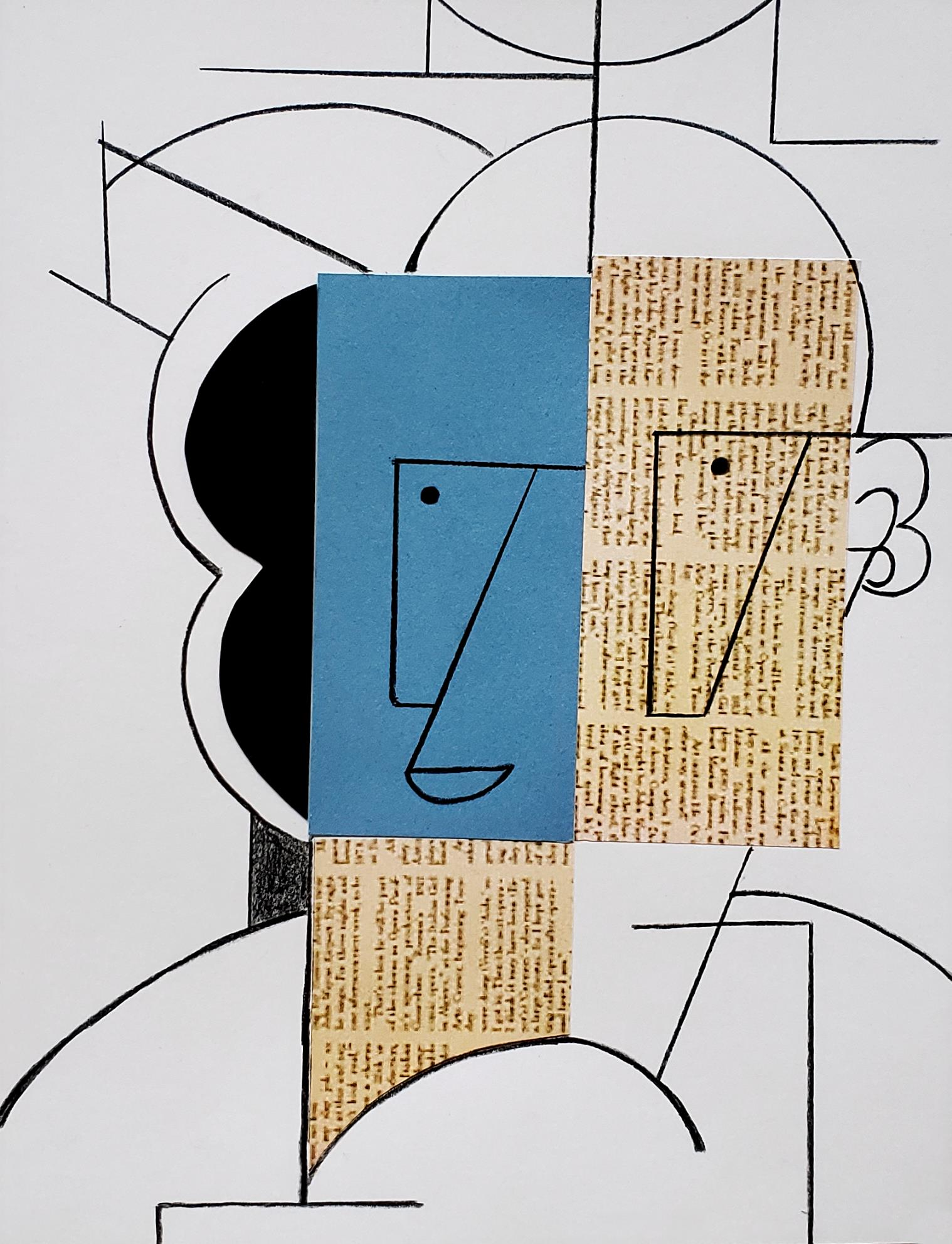 Finished Picasso Abstract Art Project for Kids
