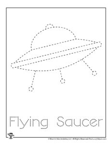 Flying Saucer Letter Tracing Printable