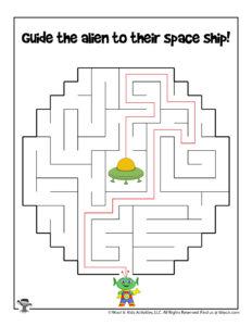 Outer Space Maze Puzzle Activity - KEY
