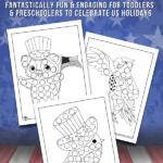 Patriotic Dot Coloring Pages