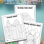 Printable Birthday Mazes for Kids