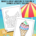 Summer Dot Coloring Pages