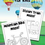 Printable Transportation Mazes for Kids