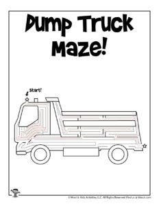 Transportation Maze Puzzle Worksheet - KEY