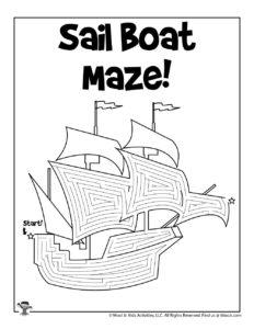 Sail Boat Preschool Transportation Printable