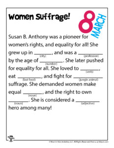Women's Vote Word Game