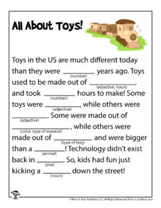 History of Toys Ad Libs