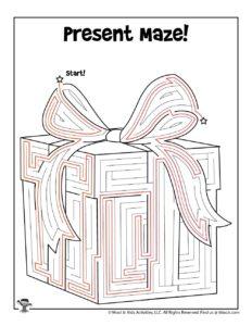 Birthday Gift Maze Activity Worksheet - KEY