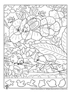 Bugs Coloring Hidden Picture Page