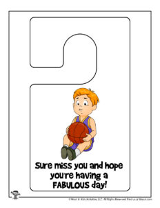 Miss You Printable Notes for Kids
